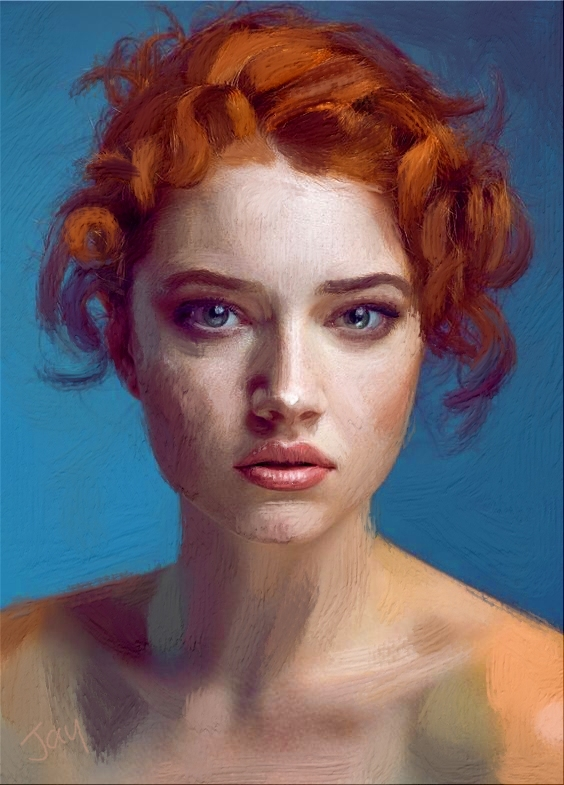 BeautifulRedheadAcrylic by Jay Hardy.jpg
