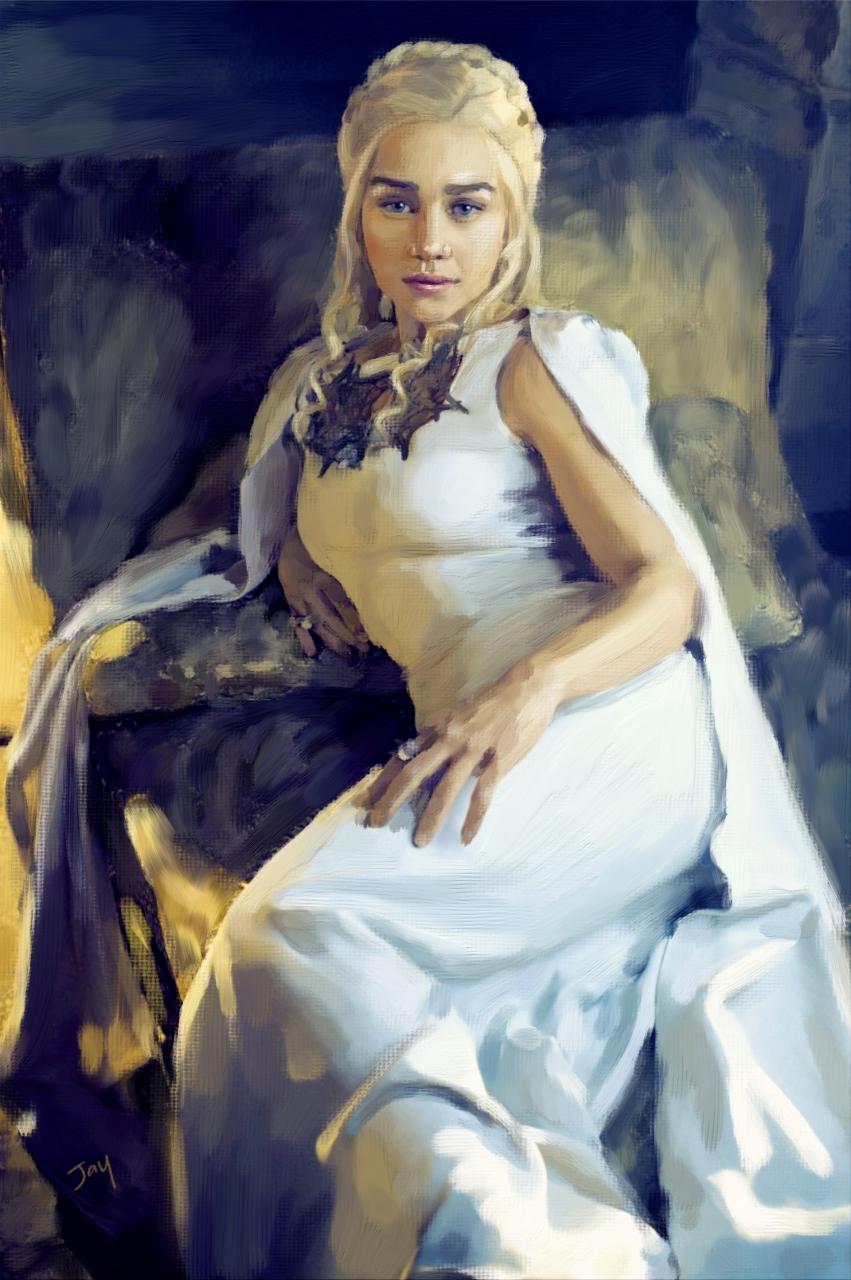 DaenerysTargaryenAcrylic by Jay Hardy.jpg