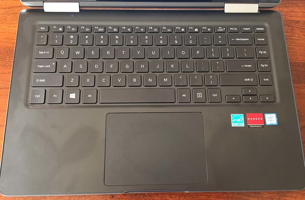The only feature of the full size keyboard I didn't like is the raised lip around the keyboard frame.
