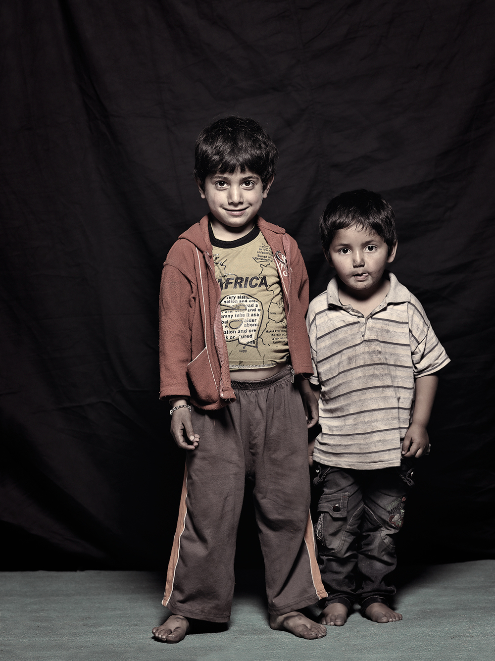 Adil Shah, 4 and Muzammil Shah, 3, D-camp, 2013