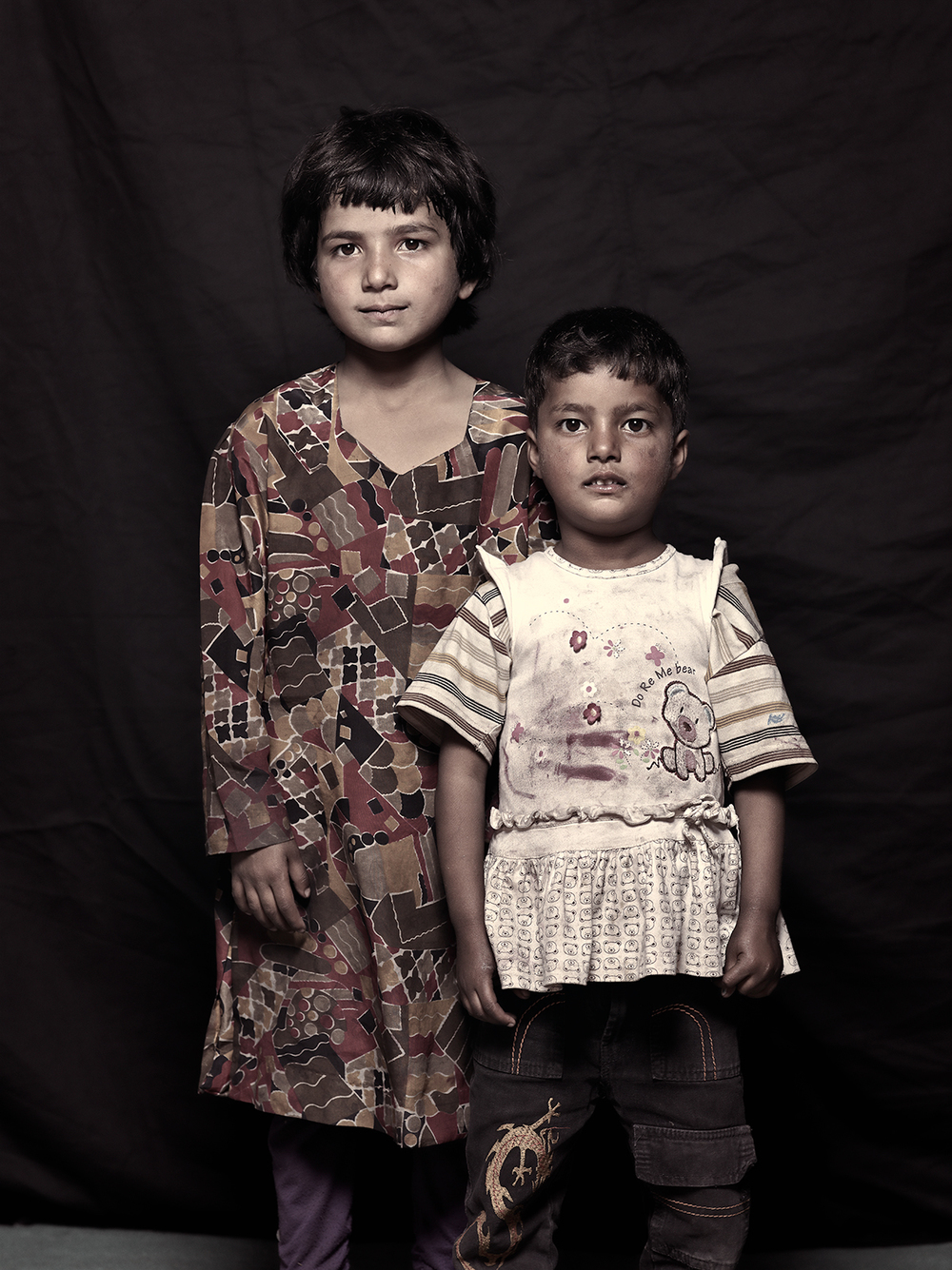 Mushkan Shah, 5 and Shamina Shah, 4, D-camp, 2013