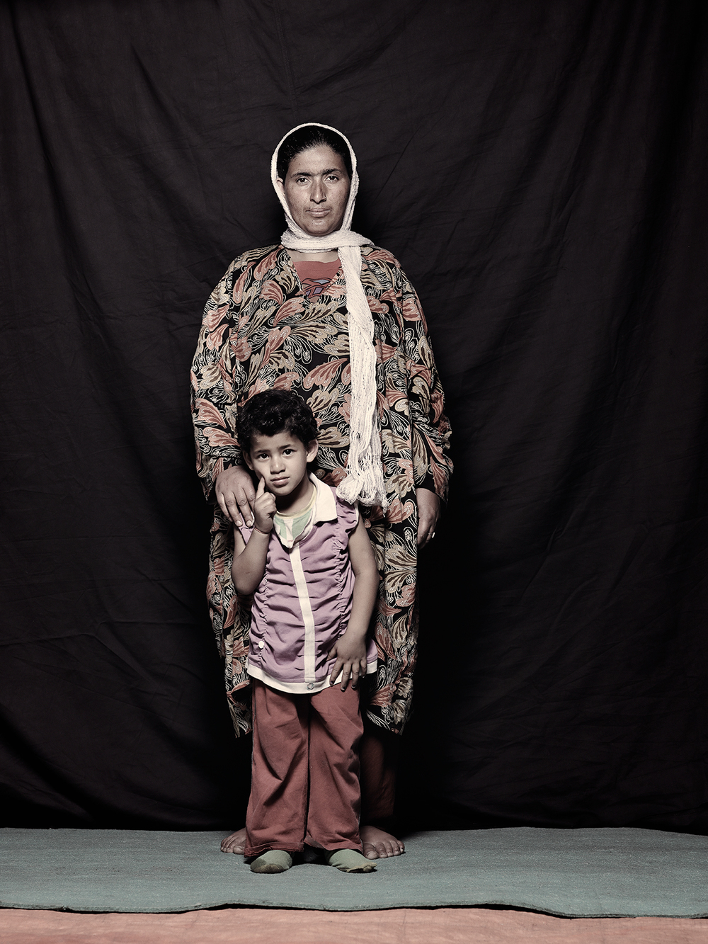 Shaheen Bilal, 27 and Surya Bilal, 4, D-camp, 2013