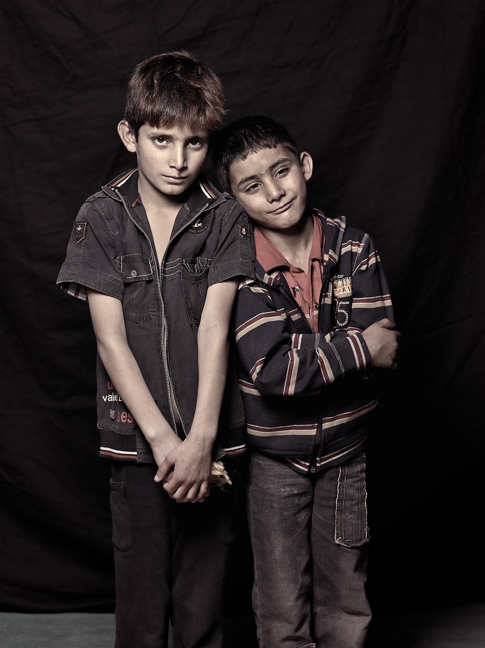 Akif Ahmed, 6 and Aubad Ahmed, 5, D-camp, 2013