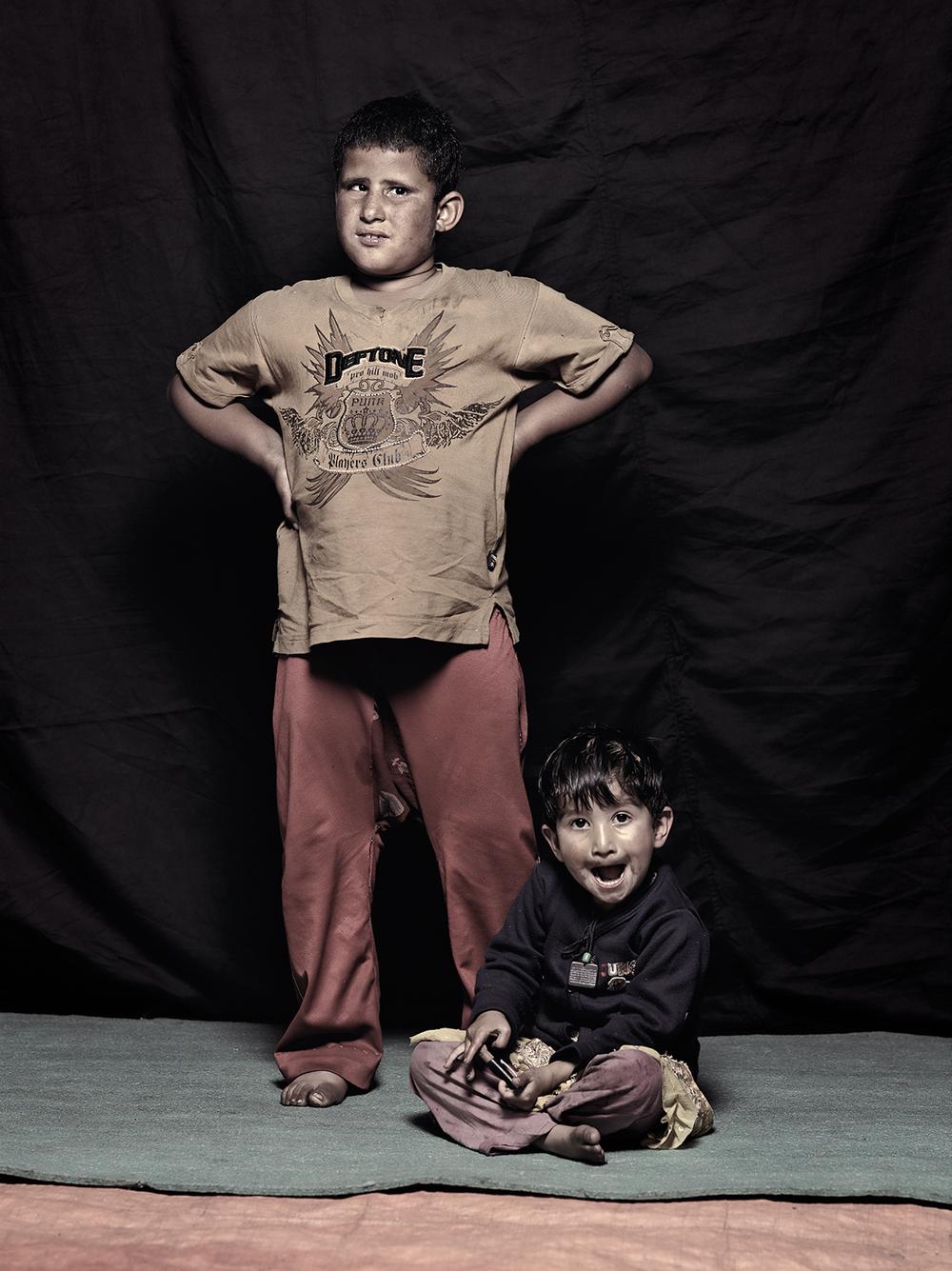 Momin Shah, 5 and Bishma Shah, 2, D-camp, 2013