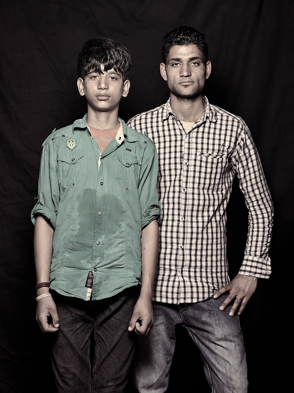 Omar Shah, 14 and Sunil Bhutt, 21, D-camp, 2013