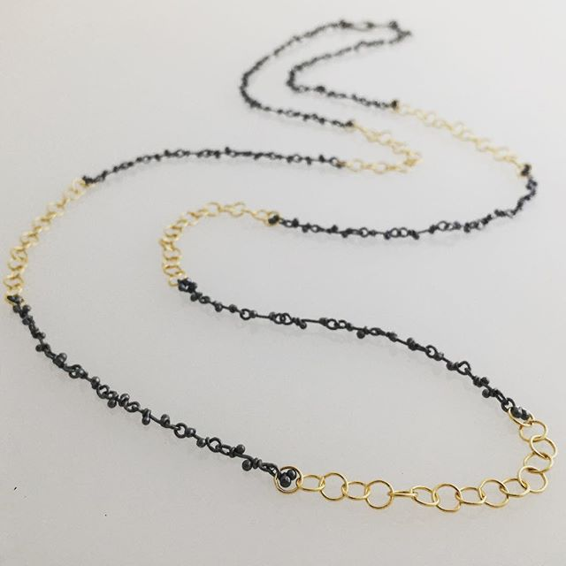 A striking combination, caviar handmade crochet and gold circles... wear it long or doubled up, a great, classic look. #magallyjewelry #gold #necklace #finejewelry #designer #jewelrydesigner #jewelry #handmade #style #instajewelry #jewelrygram #whatiwore