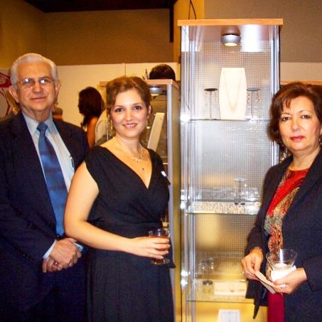 #tbt with my parents that time I had a show at @mexic_arte museum in #austin Thank you!  #magallyjewelry #designerjewelry #designerlife #fundraiser #museum #mexico #love #fineart #artist #jewelry #jewelrydesigner #collection