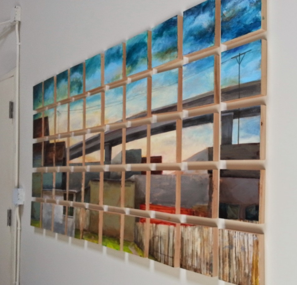 Laurel Cain' urban lanscape paintings