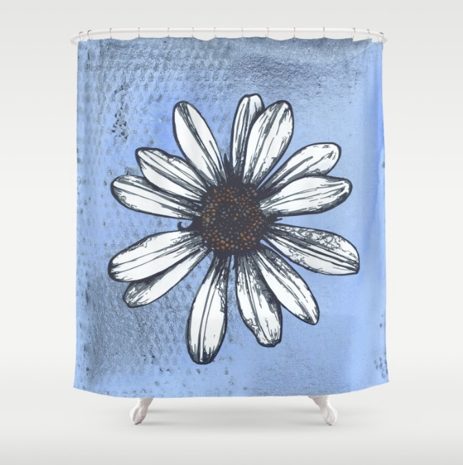 Symptom of Disorder  Shower Curtain by SIckSweet. Customize your bathroom decor with a unique shower curtain made from 100% polyester. Designer shower curtains are printed in the USA and feature a 12 button-hole top for simple hanging. The easy care material allows for machine wash and dry maintenance. Buy it here.