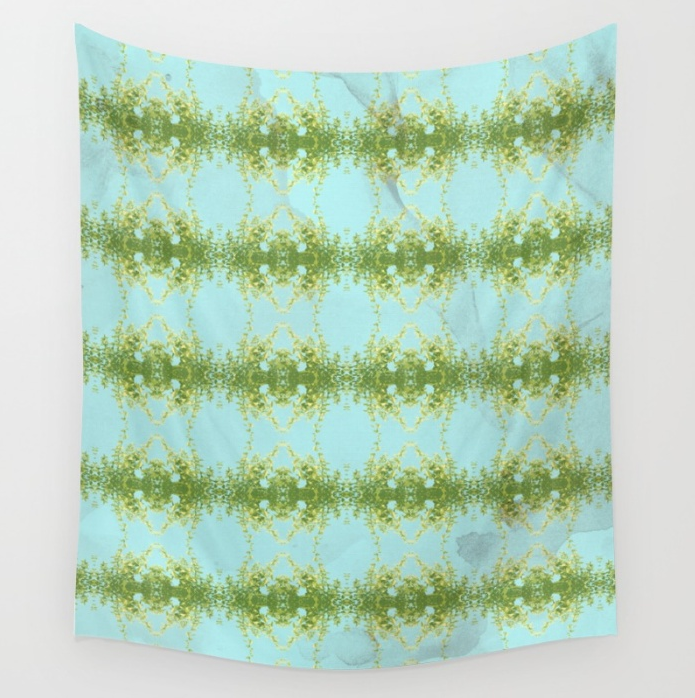 Hot Mint and Blue Sky Wall Tapestry by SickSweet   Society62.png