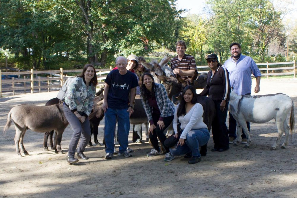 The lovely people and donkeys at Donkey Park Inc.