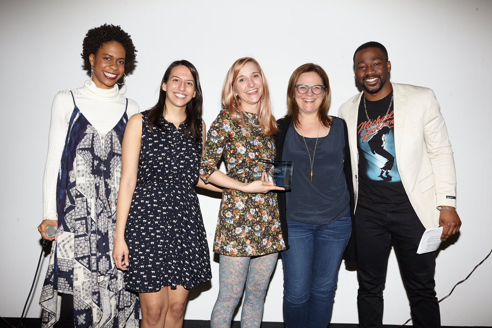 """AUDIENCE CHOICE : """" Sibs """" (Samantha Slater & Cynthia Silver) - Wins $50 towards a  Seed&Spark  campaign and script coverage from the CongestedCat team of one future short screenplay."""