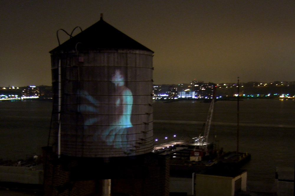 Water Tower Projections NY Gay Football League
