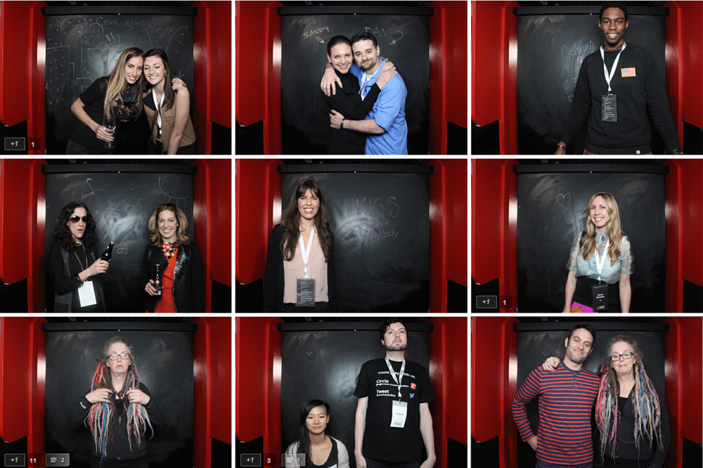 gif booth visitors