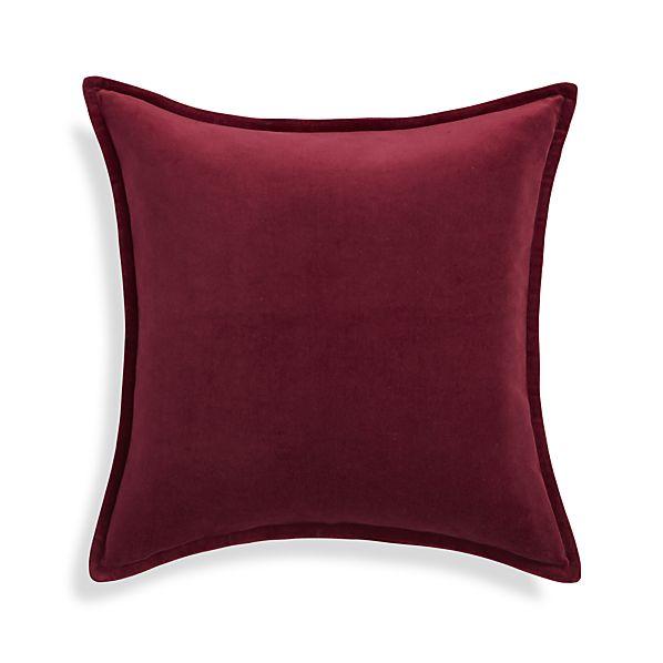 Brenner Beet Red Pillow