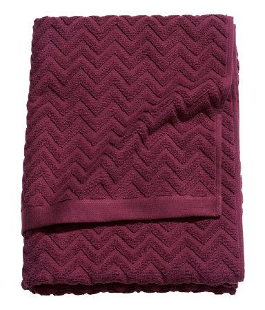 Burgandy Bath Towel