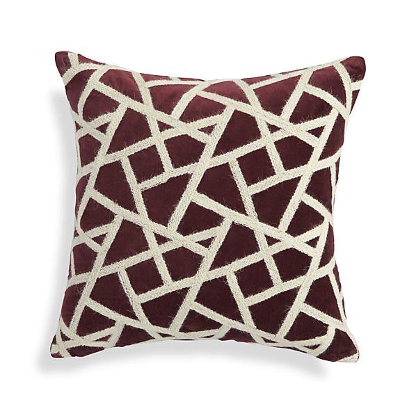 Nikko Wine Red Pillow