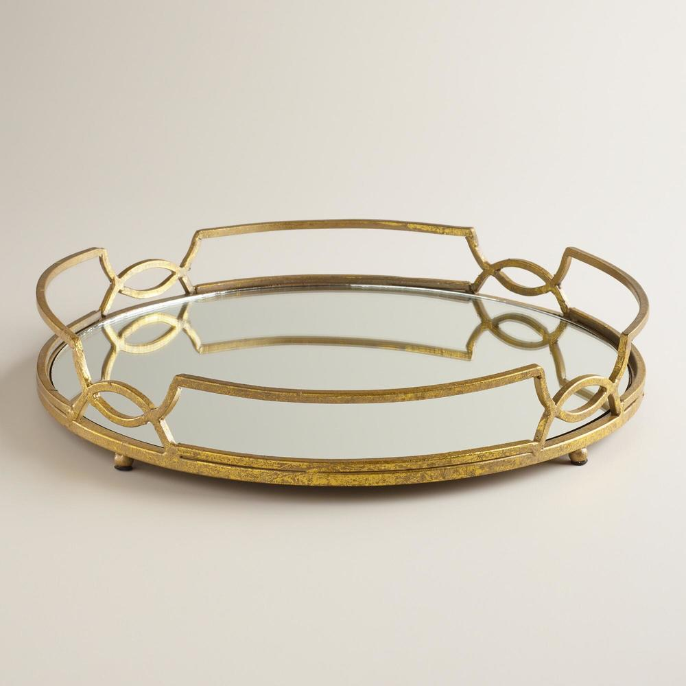 Gold Mirrored Tray