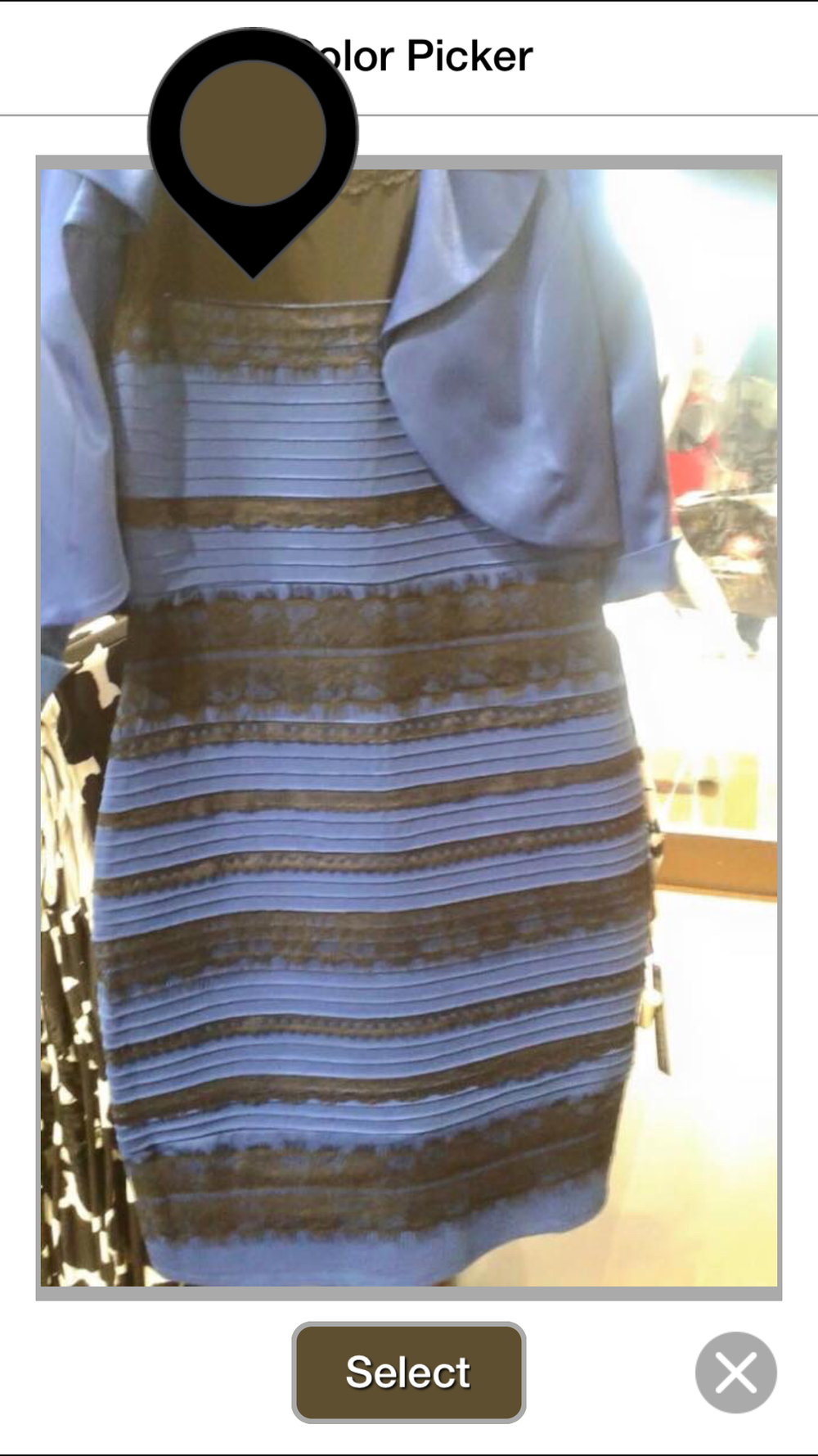 The dress is white - Second Let S Sample The Other Color In Question From True Color App We Know This Color Is Mostly Made Up By Blue 32 And White 44