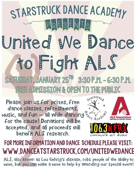 ALS Fundraiser at Starstruck Dance Academy on January 25, 2014.