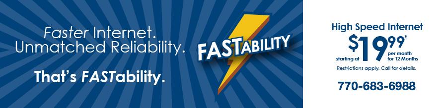 Faster Internet Banner