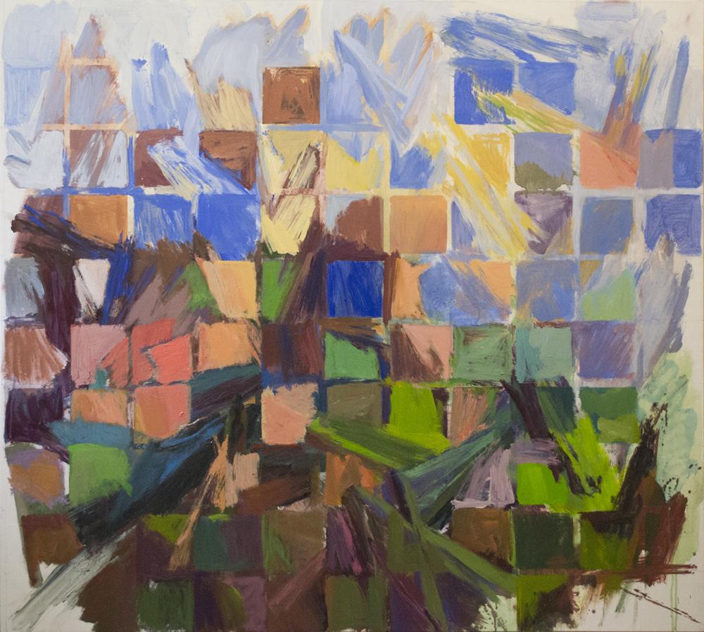 """Deep Blue , Acrylic on Canvas,55""""x50"""""""