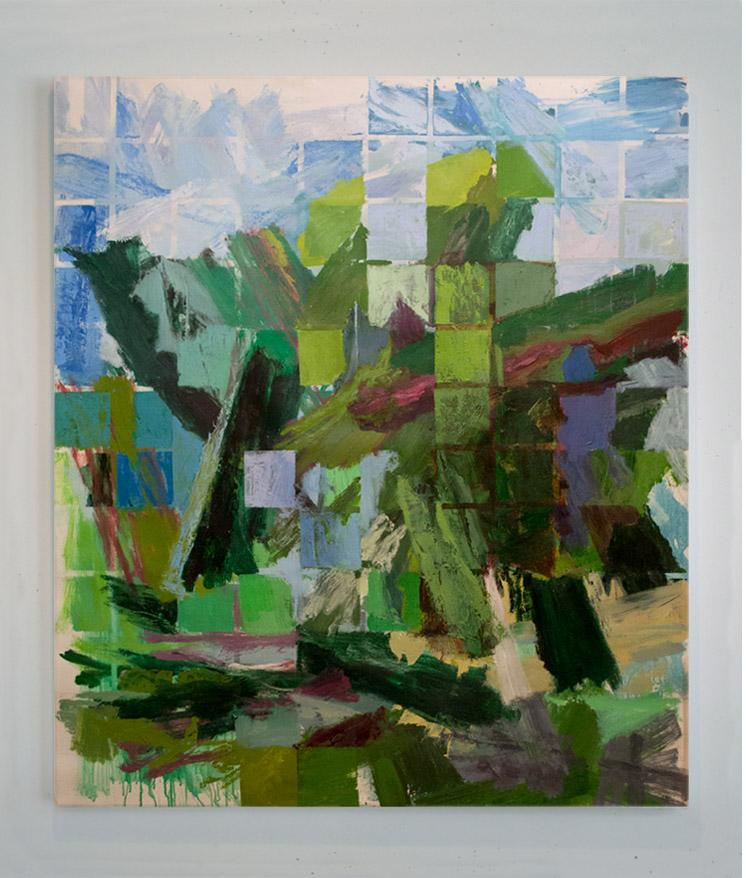 """Hillside , Acrylic on Canvas, 50""""x60"""""""