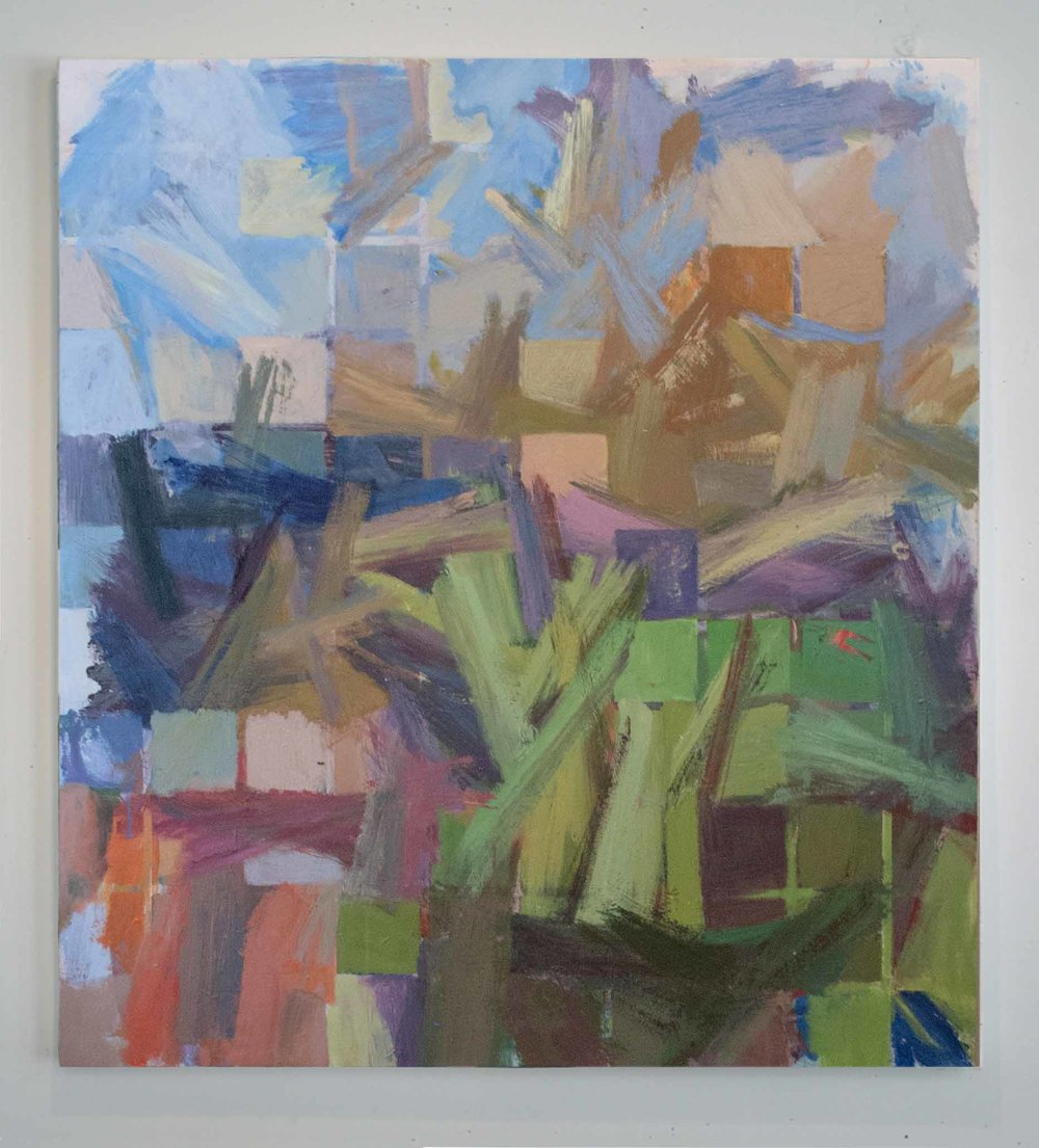 """Spring Air , Acrylic on Canvas , 55""""x50"""""""
