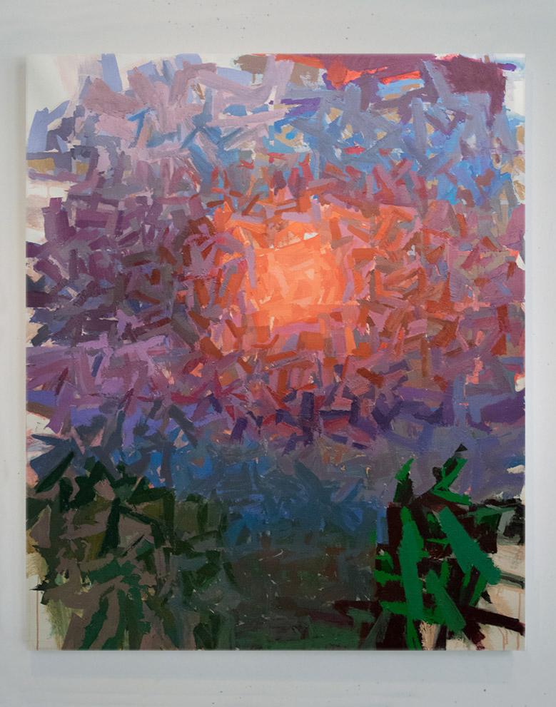 """Violet Fog   , Acrylic on Canvas , 60""""x50"""""""