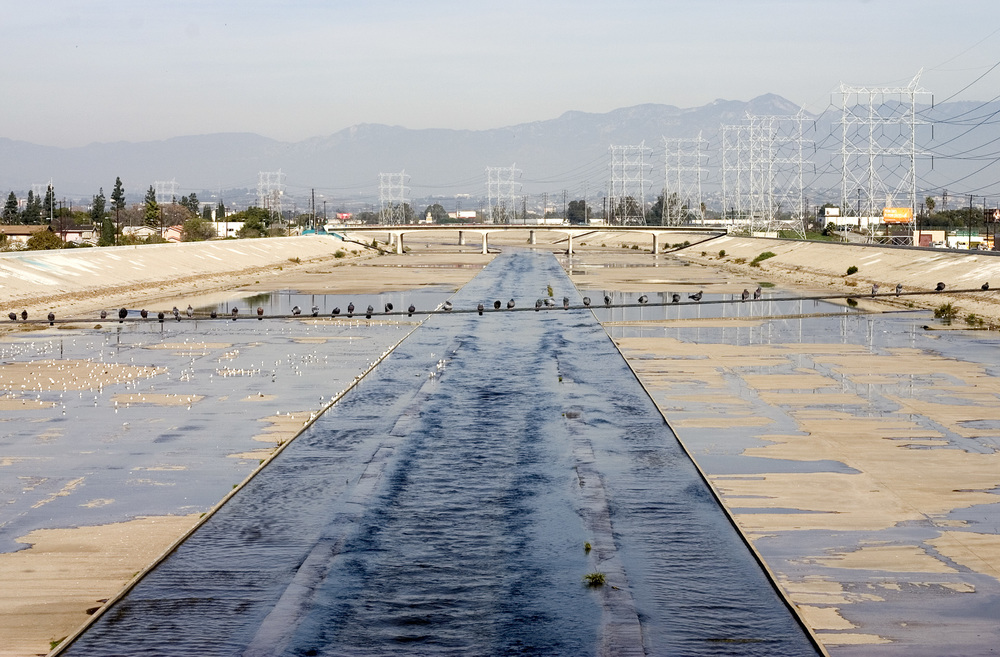 View of the Los Angeles River near Cudahy, 2009. Photo by Wendy Cheng.