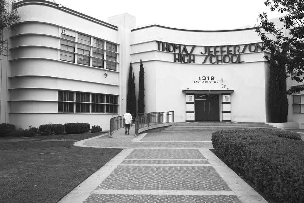 "Thomas Jefferson High School, South Los Angeles. Jefferson is now a predominantly Latina/o school and has frequently been a site of sensationalized media coverage of Black-Latina/o student conflict. 2009.                                    0     false             18 pt     18 pt     0     0         false     false     false                                                     /* Style Definitions */ table.MsoNormalTable 	{mso-style-name:""Table Normal""; 	mso-tstyle-rowband-size:0; 	mso-tstyle-colband-size:0; 	mso-style-noshow:yes; 	mso-style-parent:""""; 	mso-padding-alt:0in 5.4pt 0in 5.4pt; 	mso-para-margin:0in; 	mso-para-margin-bottom:.0001pt; 	mso-pagination:widow-orphan; 	font-size:10.0pt; 	font-family:""Times New Roman"";}"