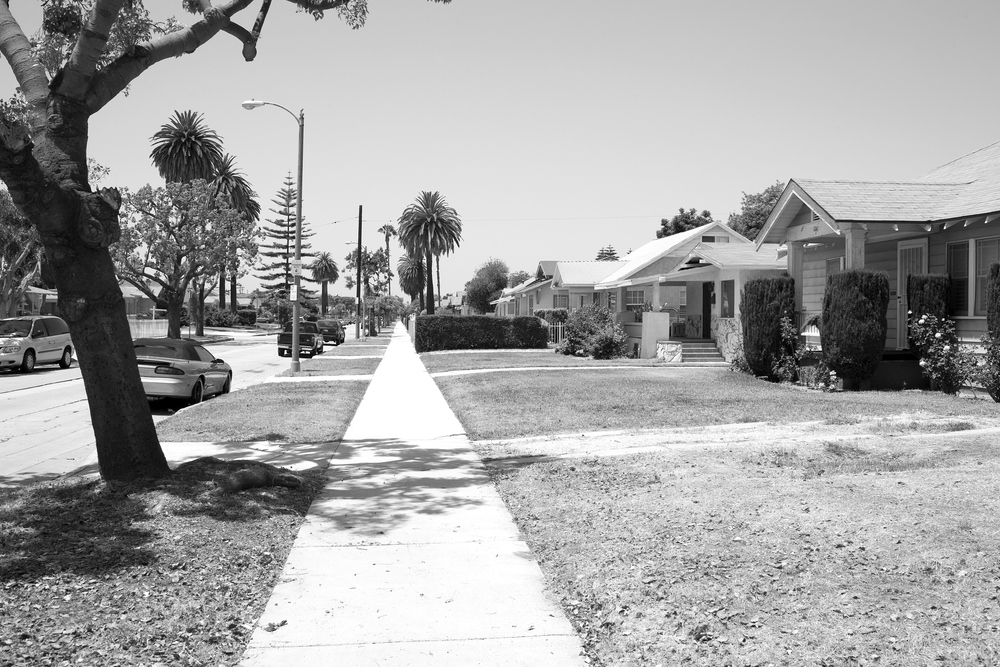 "Street of single-family homes off of Vermont Avenue, South Los Angeles, with a mix of Black and Latina/o residents. 2009.                                 0     false             18 pt     18 pt     0     0         false     false     false                                                     /* Style Definitions */ table.MsoNormalTable 	{mso-style-name:""Table Normal""; 	mso-tstyle-rowband-size:0; 	mso-tstyle-colband-size:0; 	mso-style-noshow:yes; 	mso-style-parent:""""; 	mso-padding-alt:0in 5.4pt 0in 5.4pt; 	mso-para-margin:0in; 	mso-para-margin-bottom:.0001pt; 	mso-pagination:widow-orphan; 	font-size:10.0pt; 	font-family:""Times New Roman"";}"