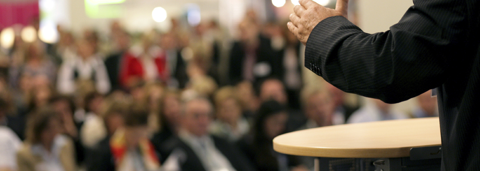 Here are four things speakers should avoid doing from the podium.