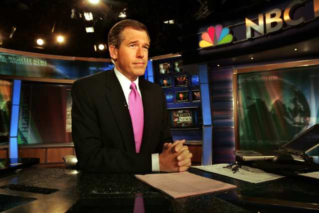 Newscasters like NBC's Brian Williams know better than to start the show by talking about themselves.