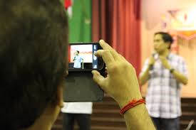 One of the quickest ways to improve as a speaker is to videotape, playback and critique your own performance.