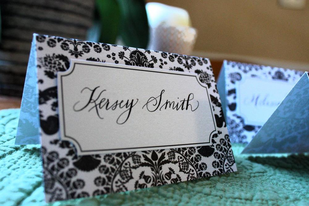 Raleigh Calligrapher Place Cards For Win And Tracy