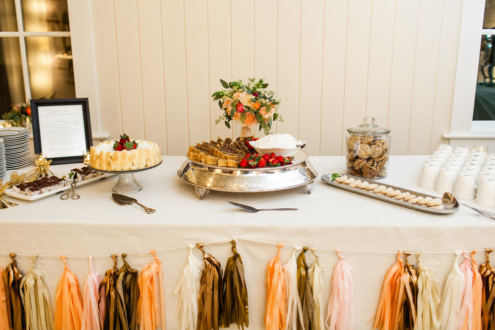 Dessert table / Photo by Morgan Trinker Photography
