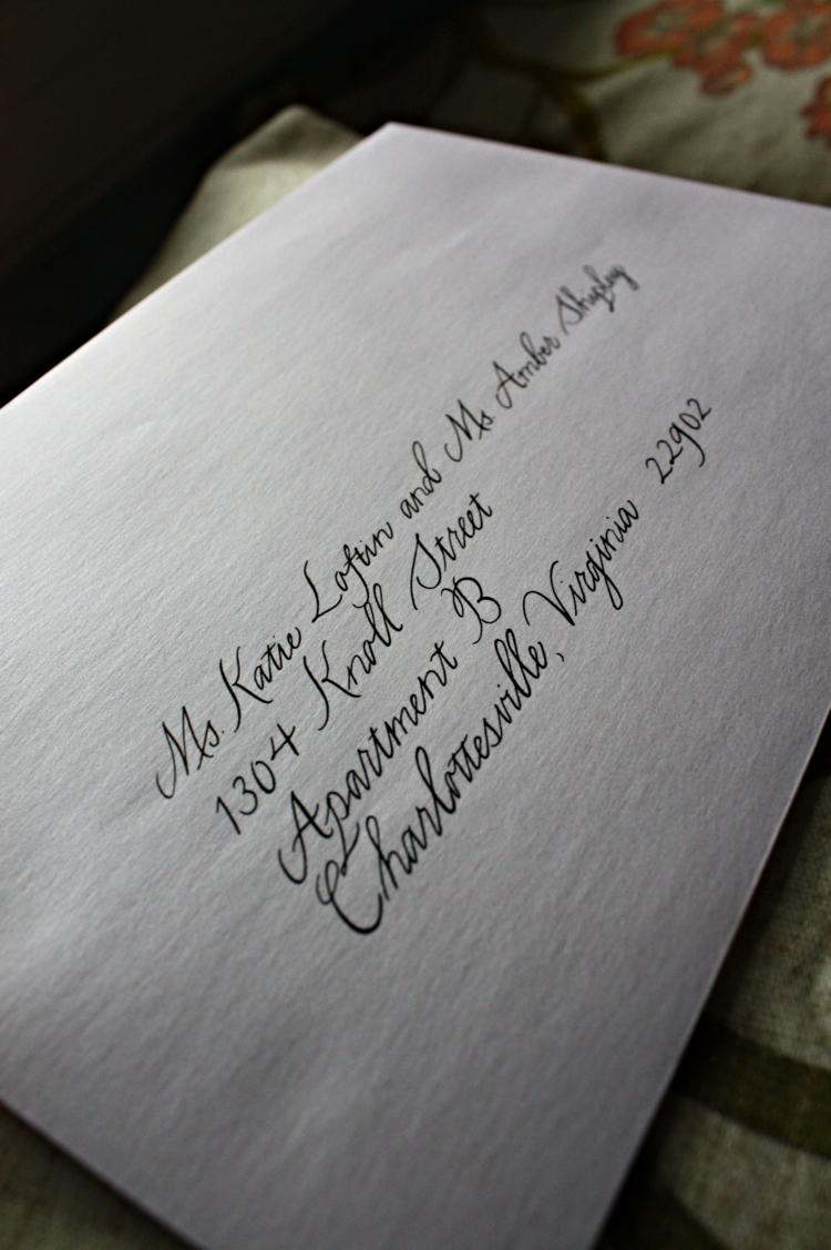 Charlottesville Calligrapher: Modern wedding invitation envelopes ...