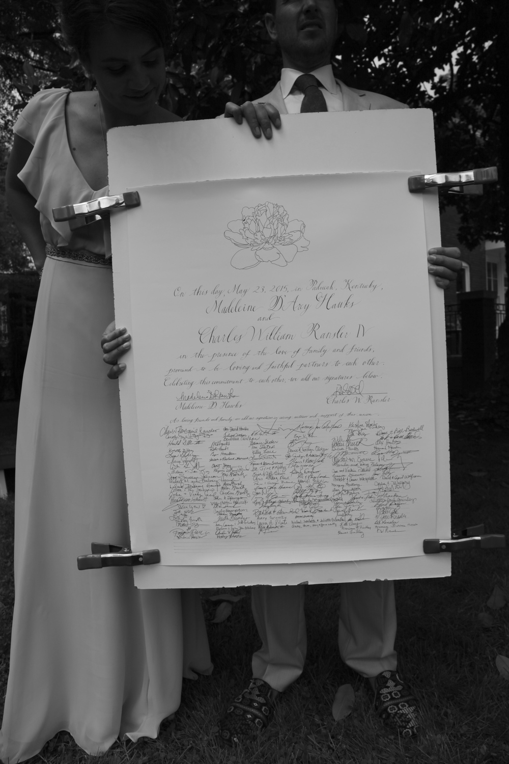 Wedding certificate! Calligraphy by Bluestocking Calligraphy / Photo ©Ellen Anderson Photography.