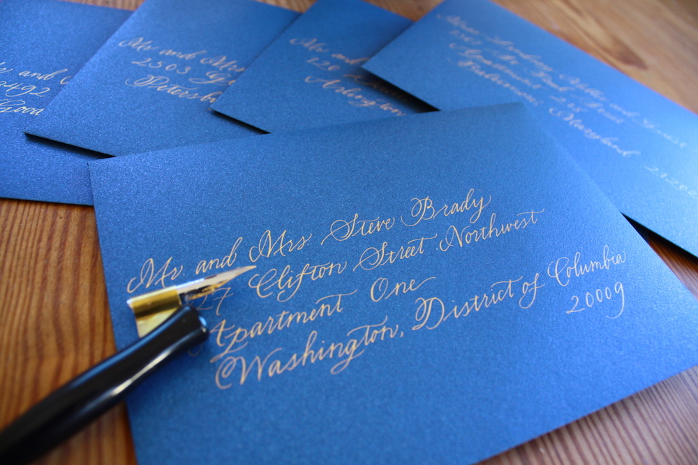 Traditional way to address envelope for a married couple / Bluestocking Calligraphy