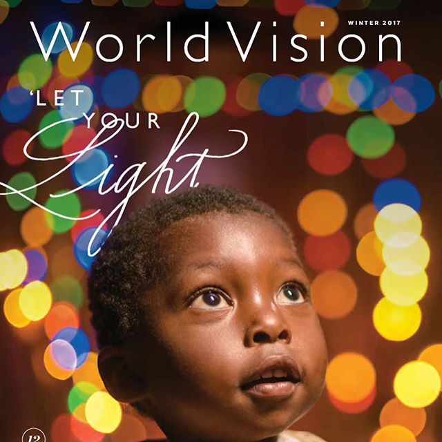 Delighted to have a bit of my lettering on the cover of World Vision Magazine.