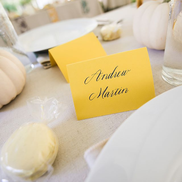 Loved working on place cards and a menu for this sweet wedding in a park this past fall. Photos by @kenblaze