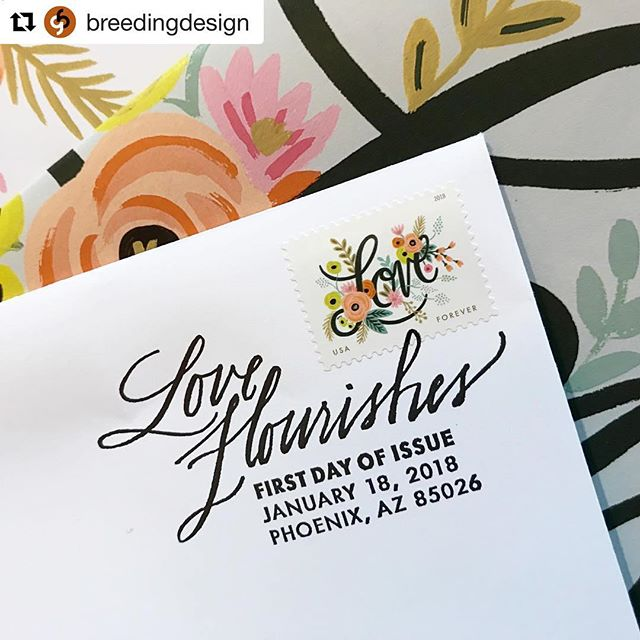 Honored to play a super-tiny part in this amazing stamp release (my handwriting on the stamp cancellation). This baby is going to sell out. Stamp art directed by @breedingdesign with illustration by @annariflebond.