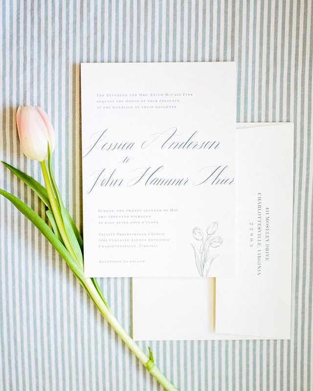 What a pleasure it was to share a little calligraphy for my sweet colleague's wedding invitation! Photo by @amynicolephoto and invitation design by @arosewalton.