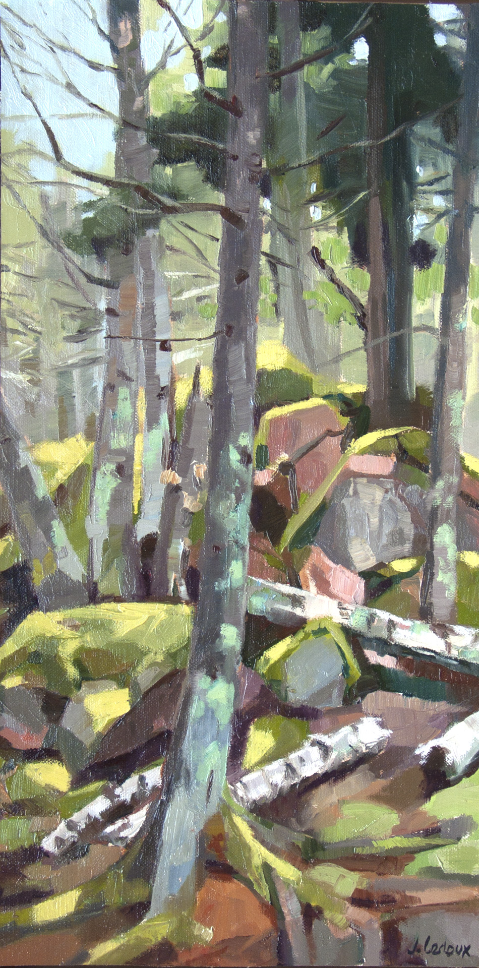The Trail to Ragged, painted plein air in Stonington, ME