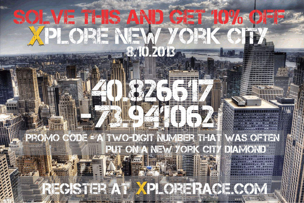 Solve this clue to get a 10% off promo code for XPLORE New York City