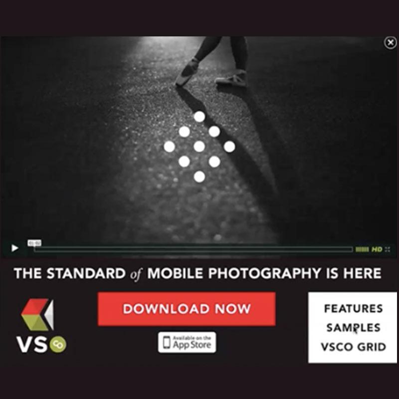 VSCO Cam Mobile Microsite