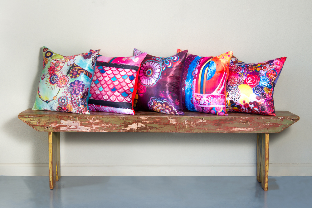 My beautiful new line of throw pillows, now available through Vintage by Design.