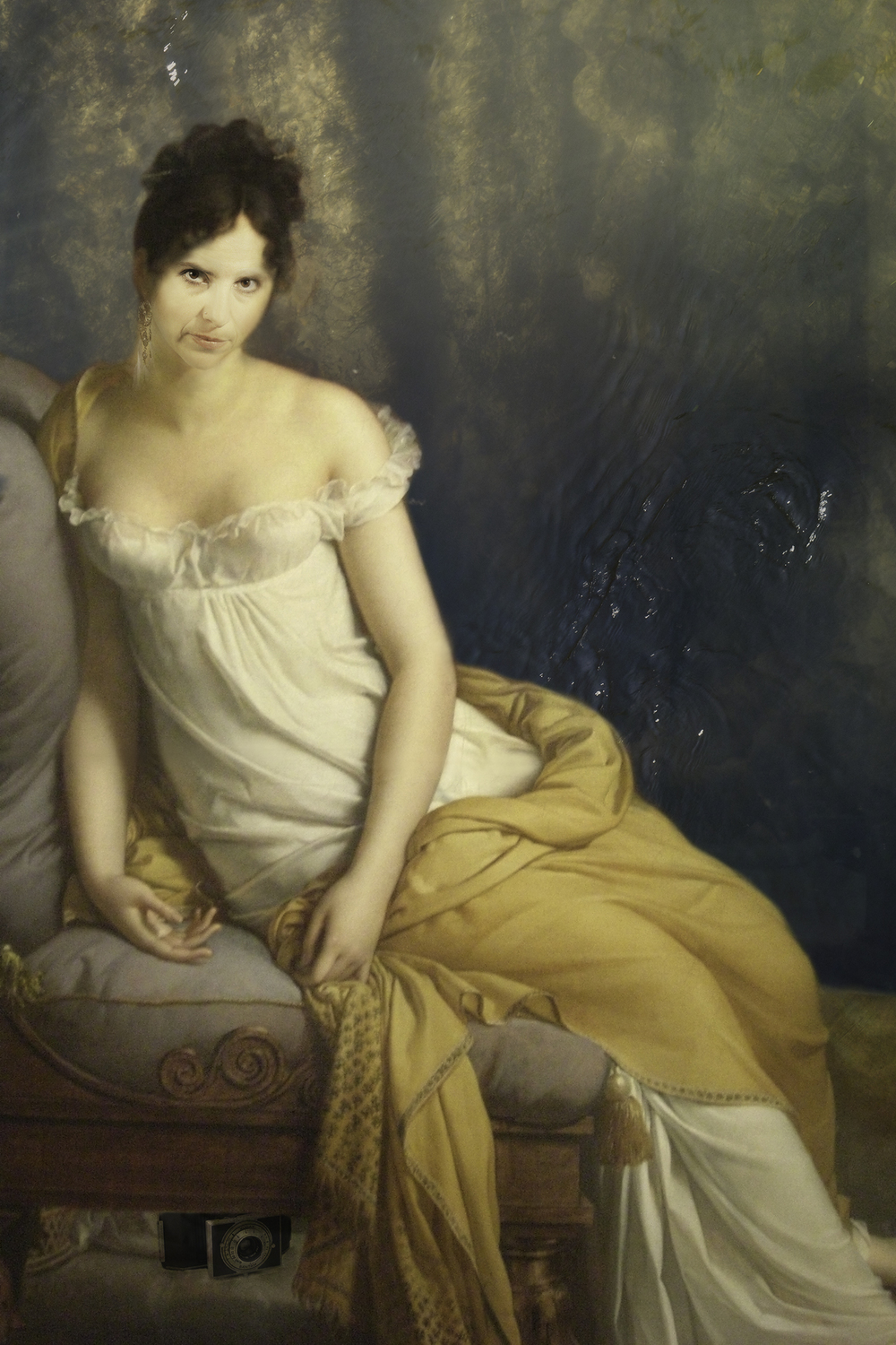 Myself as Madame Récamier (1800-2015) -  Original by Jacques-Louis David