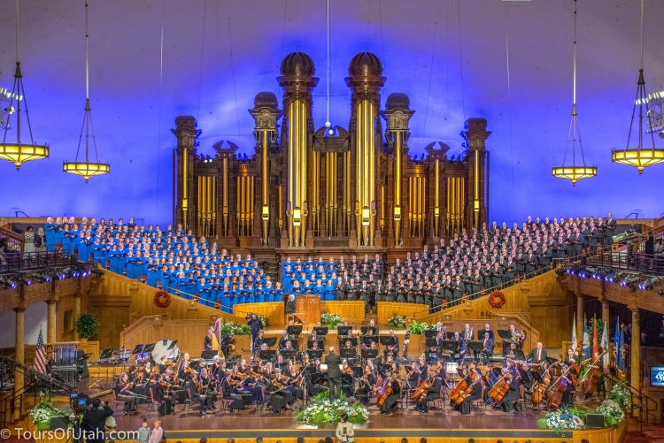 Utah bus tour Mormon Tabernacle Choir concert